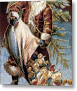 American Christmas Card Metal Print