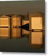 Boathouse Reflections  Metal Print