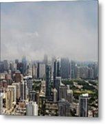Chicago Skyline Aerial Photo Metal Print