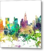 Columbus Ohio Skyline Metal Print