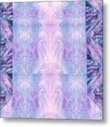 Floral Abstract Design-special Silk Fabric Metal Print