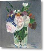 Flowers In A Crystal Vase Metal Print