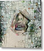 Hidden Face With Lipstick Metal Print