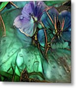 Jeweled Water Lilies Metal Print