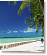 Main Beach Of Tropical Paradise Boracay Island Philippines Metal Print