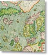 Old Map Metal Print