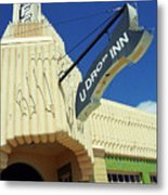 Route 66 - Conoco Tower Station Metal Print