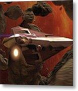 Star Wars At Poster Metal Print