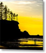 Sunset Bay Beach Metal Print
