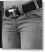 The G M Belt Metal Print