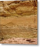 100 Hands Pictograph Panel Metal Print