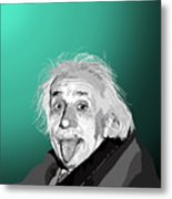100. Imagination Is More Important Than Knowledge Metal Print