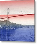 1000 Island International Bridge 3 Metal Print