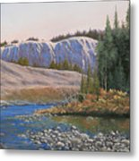 100409-1224  Rocky Creek Reflections Metal Print