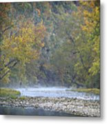 1010-3979 Buffalo River Boxley Valley Fall Metal Print by Randy Forrester