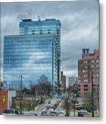 Atlanta Downtown Skyline Scenes In January On Cloudy Day Metal Print