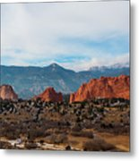 Garden Of The Gods And Pikes Peak Metal Print