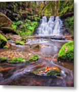 Goit Stock Waterfall Metal Print