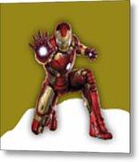 Iron Man Collection Metal Print
