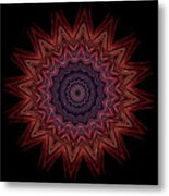 Kaleidoscope Image Created From Light Trails Metal Print