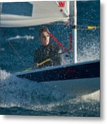 Lake Tahoe Sailboat Racing Metal Print