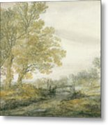 Landscape With Trees Metal Print