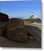 Montauk Point Lighthouse Montauk New York Metal Print