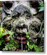 Public Fountain In Palma Majorca Spain Metal Print