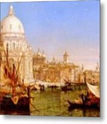 selous Henry Courtney A View Along The Grand Canal With Santa Maria Della Salute Henry Courtney Selous Metal Print