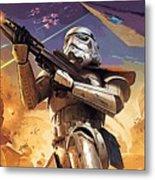 Star Wars Saga Poster Metal Print