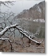 The Bass River In Winter Metal Print