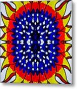 Sunburst Flower Metal Print