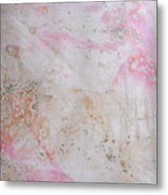 11. V2 Pink And Cream Texture Glaze Painting Metal Print