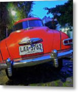 Vintage Car In Colonia Del Sacramento, Uruguay Metal Print