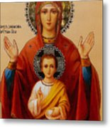 Virgin And Child Religious Art Metal Print
