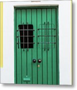 Wooden Door In Old San Juan, Puerto Rico Metal Print