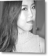 Asian Female Beauty. Metal Print
