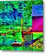 11052008a  Boat House On The Inlet Metal Print