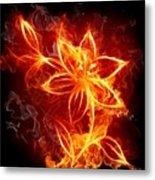 112775 Flowers Fire Metal Print