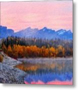 Nature Art Original Landscape Paintings Metal Print