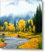 Landscape Definition Nature Metal Print