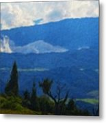 Landscape On Nature Metal Print