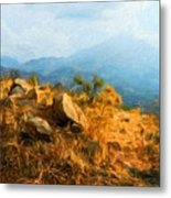 Nature Landscape Graphics Metal Print