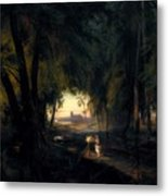 Forest Path Near Spandau Metal Print