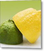 12 Organic Lemon And 12 Lime Metal Print