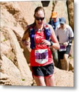 Pikes Peak Marathon And Ascent Metal Print