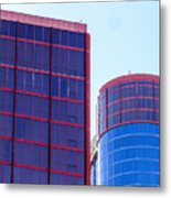 Rio Red And Blue Metal Print