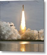 Space Shuttle Atlantis Lifts Metal Print by Stocktrek Images