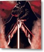 Star Wars Heroes Art Metal Print