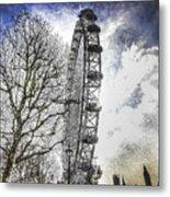 The London Eye Art Metal Print